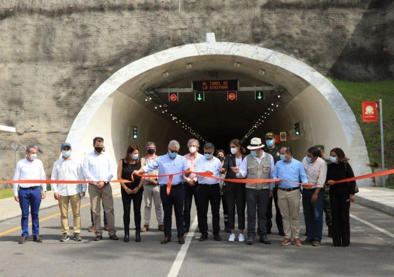 Inauguración de la UF1 del Túnel de Sinifaná en Colombia
